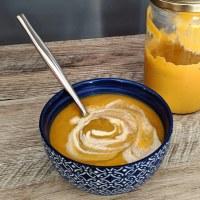 Velouté de carotte, lentille et curry