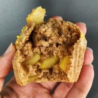 Muffin pomme et cannelle sans matière grasse et vegan